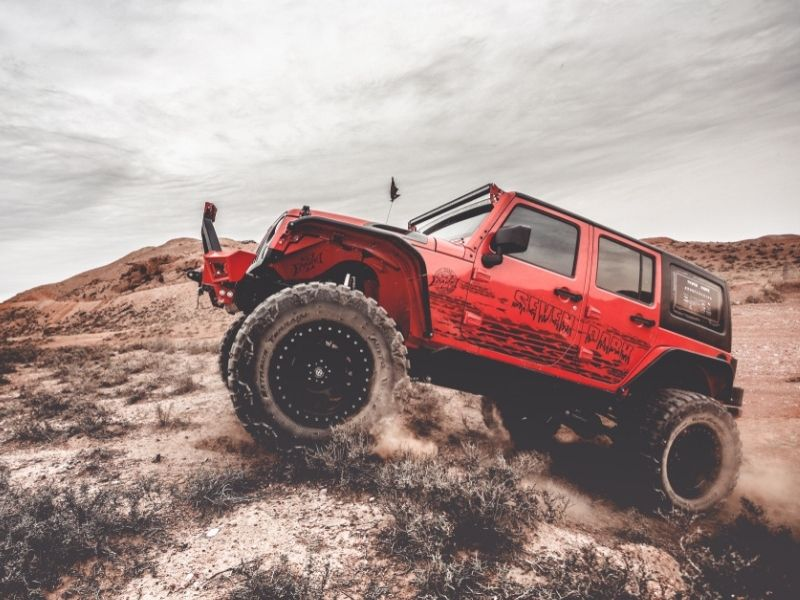 red jeep outdoors